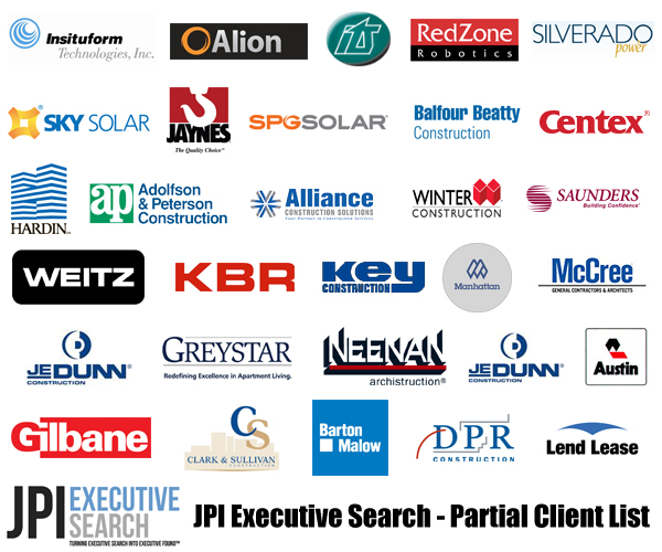 JPI Executive Search - Retained Clients - Partial List